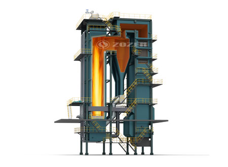 CFB(circulating fluidized bed )coal-fired hot water boiler